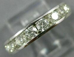 Large 2.0ct Diamond 14kt White Gold Round 3d Channel Eternity Anniversary Ring