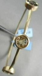 Antique Hammer Look 3.92ct Smoky Topaz And Citrine 14kt Yellow Gold Bangle