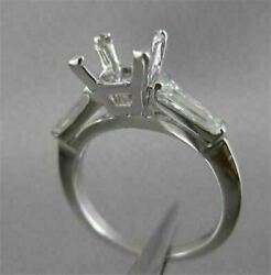 Antique .40ct Diamond Solitaire 14kt W Gold Engagement Semi Mount Ring 19967