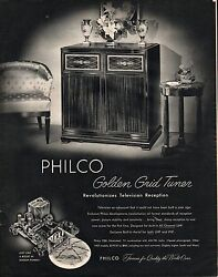 1952 Philco 2286 Console Tube Television Tv Print Ad Vintage Fifties Advertising