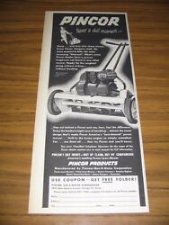 1951 Print Ad Pincor Reel Type Lawn Mowers Chicago,il