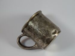 Webster Sterling Silver Childs Cup Noahs Ark The Animals Marched In Two By Two