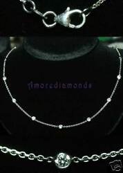 5.75 ct F SI1 round diamonds by the yard eyeglass bezel necklace white gold 30