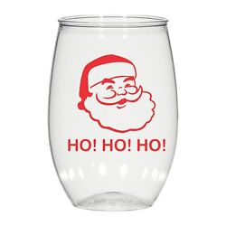 16 Oz Personalized Stemless Wine Glass Cups Party Favors Christmas Santa