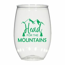 16 Oz Personalized Wedding Cups, Glasses Cocktail Glass Head For The Mountains