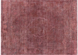 Overdyed Hand Knotted Oriental Area Rug 8 X 11 - W2064