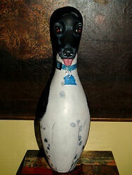 Custom Hand PAINTED Bowling Pin dog portrait of ANY BREED rat terrier Dogs cats
