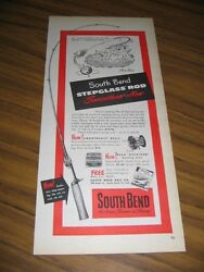 1951 Print Ad South Bend Stepglass Fishing Rods And Smoothcast Reels