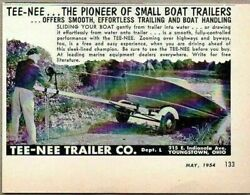 1954 Print Ad Tee-nee Small Boat Trailers Made In Youngstownohio