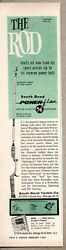 1960 Print Ad South Bend Power-flex Fishing Rods Chicago,il
