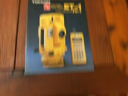 Topcon Et-1 Total Station And Data Collector Fc-1 Detailed Brochure Surveyor