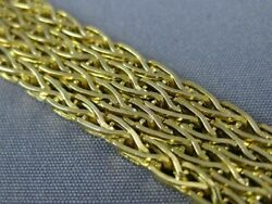 Estate Wide And Long 18kt Yellow Gold 3d Four Row Byzantine Bracelet 19791