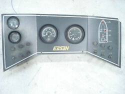 Teleflex Four Gauge Cluster And Dash With Switches - Edson