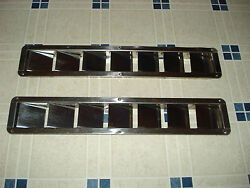 Stainless Steel Motor Compartment Side Vents 3 X 16 3/4