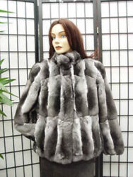 BRAND NEW CANADIAN RANCHED CHINCHILLA FUR JACKET COAT WOMEN WOMAN