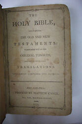 1812 The Holy Bible W Family Provenance William Weisel Ball Family Miller