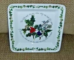 Portmeirion The Holly And The Ivy 8 1/2 Square Salad Plate Mint W/ Paper Sticker