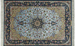 Super Authentic Oriental Hand Knotted Silk Signed Rug 5' X 8' - SA2688
