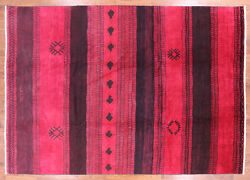 9and039 10 X 14and039 1 Signed Navajo Design Moroccan Area Rug - P5085