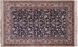 Signed Authentic Oriental 5 x 8 Wool & Silk Rug - GZT410