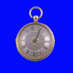Rare Edwardian London Silver Pocket Watch Pedometer With Silver And Gold Dial 1905