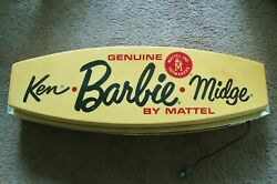See New Pics Vintage 1960and039s Barbie Store Display Sign Lighted