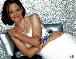 Jodie Foster Signed Autographed 11X14 Photo Sexy Modern on Chair Smile GV732044