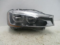 2014 BMW X3 Passenger RH Headlamp Assembly W/Adaptive Light Control OEM LKQ