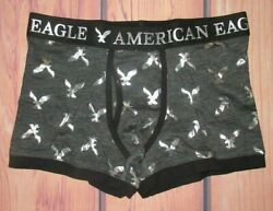 MENS AMERICAN EAGLE CLASSIC TRUNK CHARCOAL SILVER BOXER BRIEF S 29 31