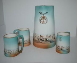 Vintage Shriner Tankard And Mugs Egyptian Copyright Pf And Co. Ny 1907 Rare Find