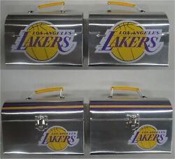 Two 2 2019 Los Angeles Lakers Sga Lunch Box / Lunch Pail 4/4/19 Vs Gs Warriors