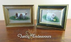 Toni T. P. Haigh Jack Russell Terrier TWO Puppy Dog Original HP Portraits