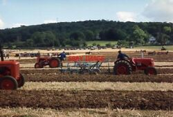 Photo 1991 Somerset Brockley Ploughing Match Vintage Tractors In Action In A Fi