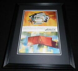 1962 Amity Leather Products 11x14 Framed Original Vintage Advertisement