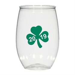 16 Oz Personalized Stemless Cups Glass, Cocktail Glass Wedding St Patrick's Day