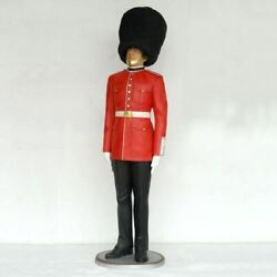 British Queenand039s Guard Life Size Statue Military Display Prop Decor