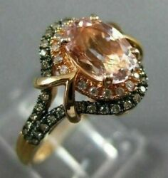 Wide 1.34ct Multi Color Diamond And Aaa Multi Gem 14k Rose Gold 3d Engagement Ring