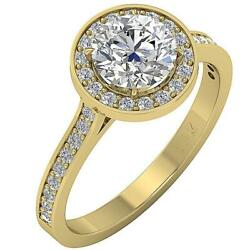 Natural Diamond Halo Solitaire Engagement Ring I1 G 2.00 Ct Appraisal 14k Gold