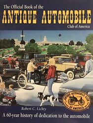 Official Book Of The Antique Automobile Club Of America By Bob Lichty Signed Hc