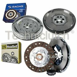Luk 3 Part Clutch Kit And Sachs Dmf For Audi A3 Hatchback 1.9 Tdi