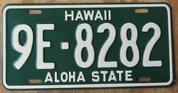 HAWAII ALOHA STATE HONOLULU  OAHU - license plate 1961  9E-8270
