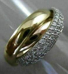 Estate Large 1.32ct Diamond 14kt White Yellow And Rose Gold 3d Trinity Love Ring