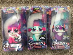 New Lil' Gleemerz Lot Of 3 Adorbrite Amiglow Loomur Free Priority Shipping