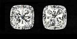 20.37 ct GIA G VVS2VS1 cushion solitaire diamond studs platinum push backs