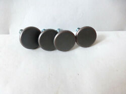 Cabinet Dresser Hardware Round Smooth Knob Pull Lot Of 4 Copper Color Brass