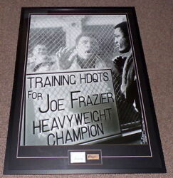 Muhammad Ali And Joe Frazier Dual Signed Framed 28x40 Poster Display Aw / Woolf