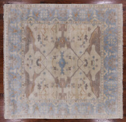 8' Square Traditional Oushak Hand Knotted Wool Area Rug - Q1042