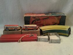 Automatic Toy Co 'round The Country Spiral Speedway 1930's Wind Up Tin Toy 320