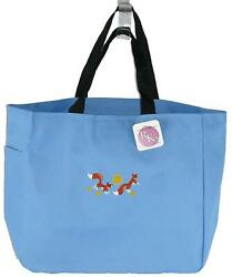 Red Foxes Leaping Sunshine Stars Monogram Bag Light Blue Essential Tote Fox Gift