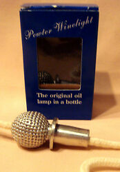 Pewter Golf Ball Winelight Turn Your Used Wine Bottles Into An Oil Lamp Candle
